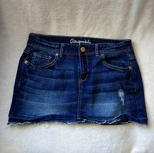 Aeropostale Denim Distressed Skirt